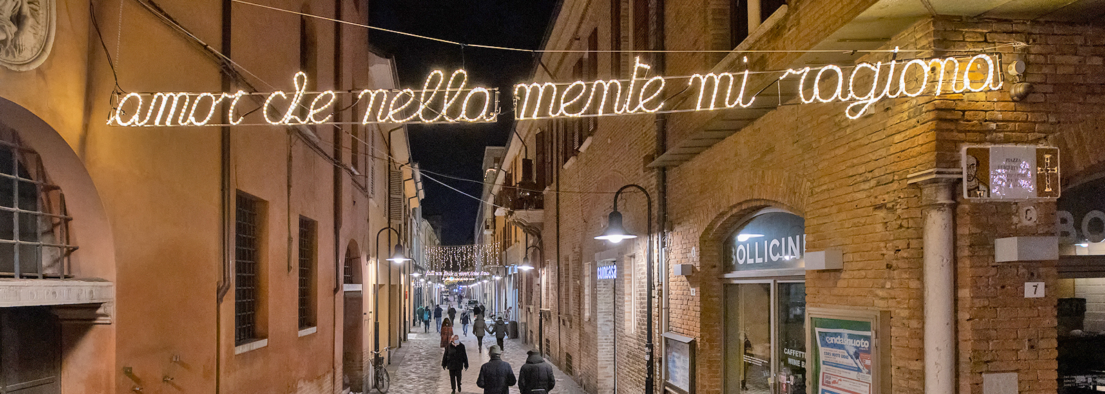 The words of Dante Alighieri will light up Ravenna city centre this Christmas